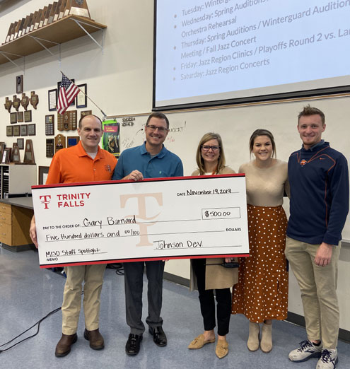 Trinity Falls Surprises Mckinney North Band Director With 500 Award Printed From North Texas E News