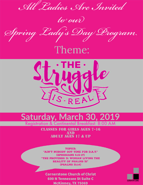 Cornerstone Church of Christ in McKinney Spring Lady's Day