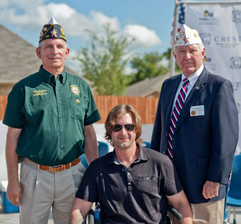 American Legion Department Of Texas Vice Commander Fred Rogers Welcomes Marine Corporal Brian Aft Home North Texas E News