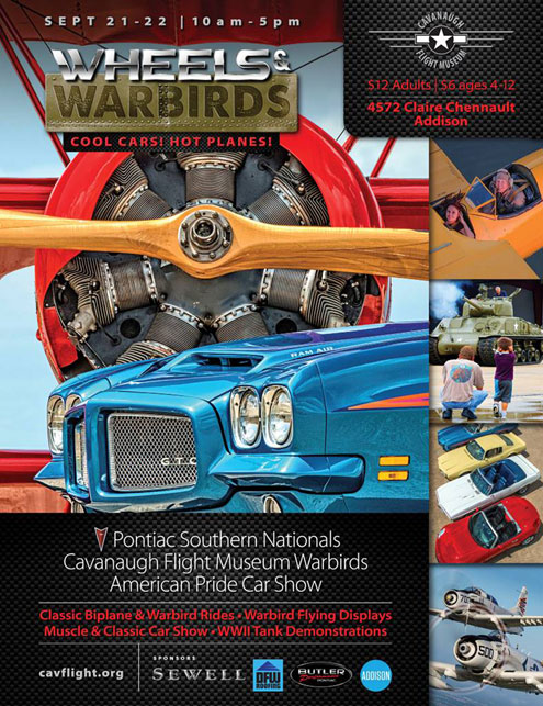 Wheels & Warbirds brings historic warbirds and classic cars