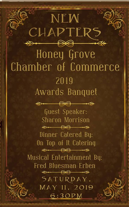 Honey Grove Chamber of Commerce Banquet set May 11 - North