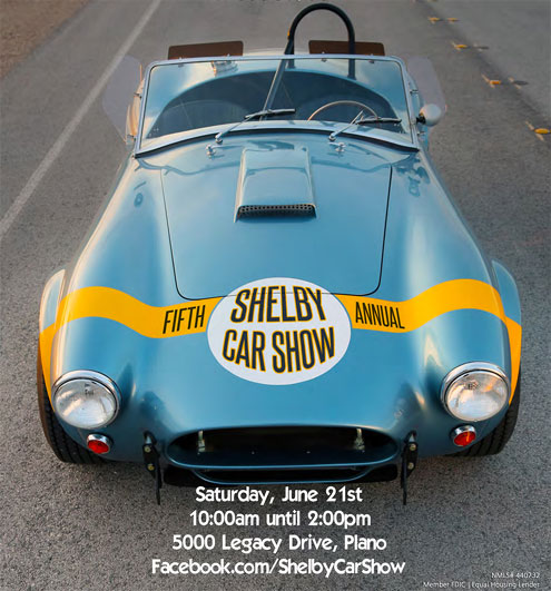 Shelby American To Star At Fifth Annual Shelby Car Show In Plano - Plano car show
