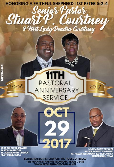 Bethlehem Baptist Church to host 11th Pastoral Anniversary ...