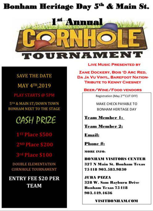 a0ef8b1a Heritage Day Cornhole Contest and more - North Texas e-News
