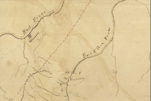 Map Of Texas 1840.The 1840 Road From Austin To Fort Inglish North Texas E News
