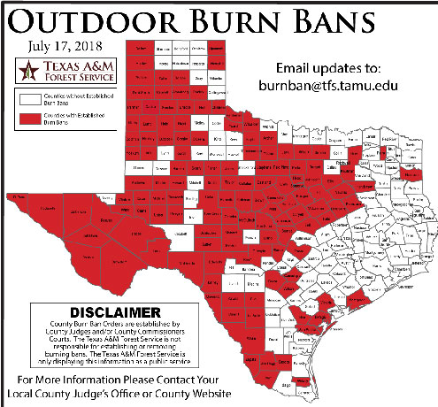 Fannin County Under Burn Ban North Texas E News