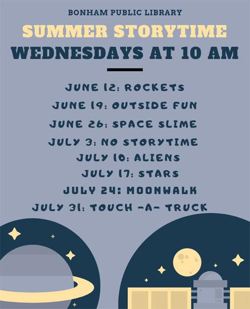 Summer Reading Program At Bonham Public Library North