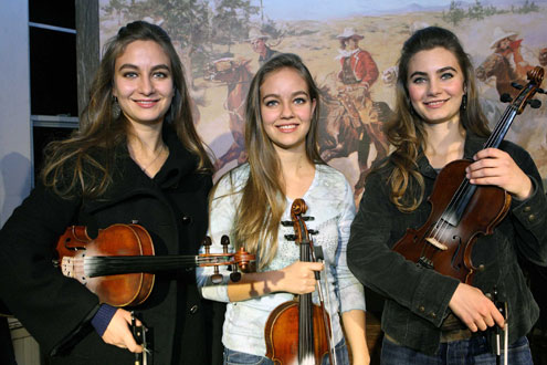 Quebe Sisters Band Entertains At Branscome Hall In Blue