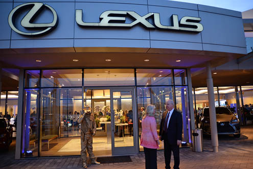 Park Place Lexus Plano General Manager Chris Brunner, Texas Scottish Rite  Hospital For Children North Campus VP Jeremy Howell, Legacy West Marketing  ...