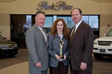 Park Place Lexus GM Gary Venner, Elisa Johnson And President Jordan Case
