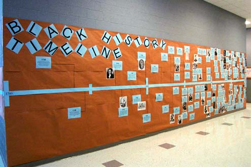 Black History Timeline On Display At Wolfe City High