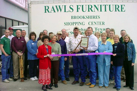 The Bonham Area Chamber Of Commerce Was Pleased To Welcome Rawls Furniture  To Bonham With A Ribbon Cutting Ceremony On Friday, March 12, 2004.