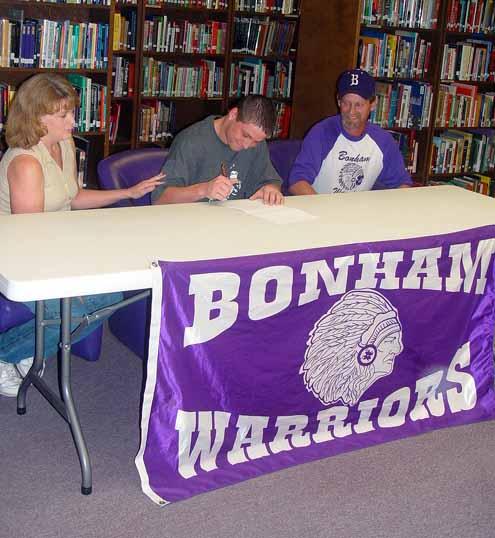 Coach Larry Wade Sweater: Bonham Athletes Ink College Deals