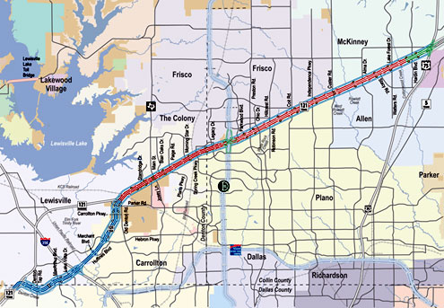 Texas 121 Toll Road Map Public has until March 6 to provide input for name of new